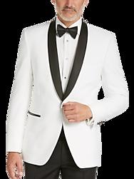 Egara White Slim Fit Dinner Jacket