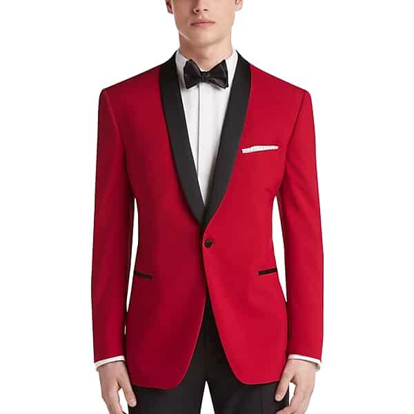 1960s Mens Suits | Mod, Skinny, Nehru Egara Mens Red Slim Fit Dinner Jacket - Size 38 Long $139.99 AT vintagedancer.com