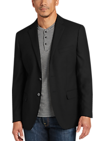 Mens Blazers, Sport Coats - JOE Joseph Abboud Black Slim Fit Blazer - Men's Wearhouse