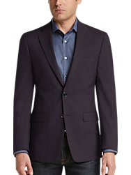 Calvin Klein Burgundy Check Slim Fit Sport Coat