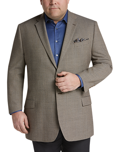 Joseph & Feiss Gold Executive Fit Sport Coat, Tan Check