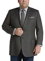 Pronto Uomo Platinum Executive Fit Sport Coat, Black