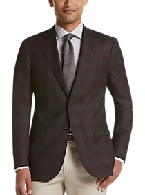 Mens Clearance, Big & Tall - Joseph Abboud Limited Edition Brown Plaid Modern Fit Sport Coat - Men's Wearhouse