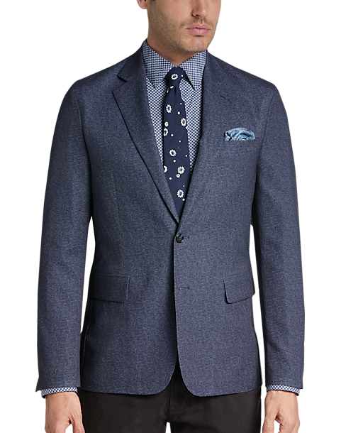 Egara Navy Slim Fit Featherweight Tech Sport Coat