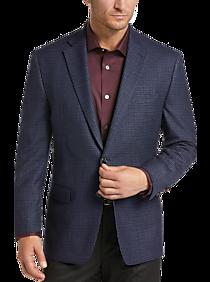 Mens Clearance, Big & Tall - Lauren by Ralph Lauren Blue Check Classic Fit Sport Coat - Men's Wearhouse