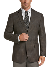Pronto Uomo Platinum Modern Fit Sport Coat, Brown Check