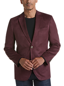 Mens Modern Fit, Sport Coats - Nautica Burgundy Microsuede Modern Fit Sport Coat - Men's Wearhouse