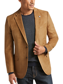 Mens Sport Coats - Nautica Tan Microsuede Modern Fit Sport Coat - Men's Wearhouse