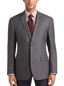 Mens Extra 30% Off Clearance, Sport Coats - Pronto Uomo Platinum Modern Fit Sport Coat, Charcoal Windowpane - Men's Wearhouse