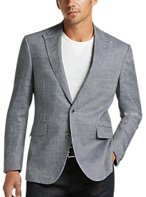 Mens Midnight Madness - JOE Joseph Abboud Light Blue Slim Fit Sport Coat - Men's Wearhouse