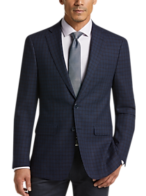 Mens Clearance, Big & Tall - Calvin Klein Navy Check Slim Fit Sport Coat - Men's Wearhouse