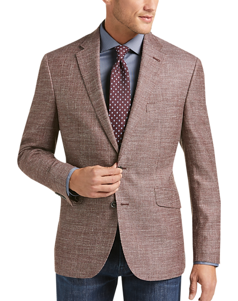 Joseph Abboud Limited Edition Rust Tic Modern Fit Sport Coat