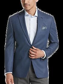 Mens Lauren by Ralph Lauren, Sport Coats - Lauren by Ralph Lauren Blue Check Classic Fit Sport Coat - Men's Wearhouse