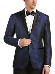 Awearness Kenneth Cole Blue Jacquard Slim Fit Dinner