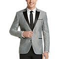 Awearness Kenneth Cole Gray Paisley Slim Fit Dinner