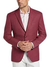 Mens Tommy Hilfiger, Sport Coats - Tommy Hilfiger Red Modern Fit Sport Coat - Men's Wearhouse