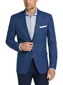 Mens Tommy Hilfiger, Sport Coats - Tommy Hilfiger Navy Tic Modern Fit Sport Coat - Men's Wearhouse