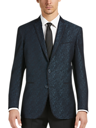 Awearness Kenneth Cole Green Jacquard Slim Fit Dinner