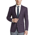 Calvin Klein Berry Plaid Slim Fit Sport Coat