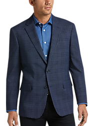Awearness Kenneth Cole Navy Plaid Slim Fit Sport