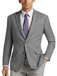 Awearness Kenneth Cole Light Gray Tic Slim Fit