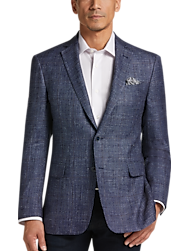 Joseph Abboud Indigo Blue Modern Fit Sport Coat,