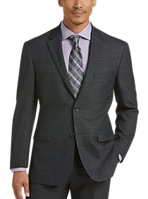 Mens Extra 30% Off Clearance, Sport Coats - Pronto Uomo Platinum Modern Fit Sport Coat, Charcoal Plaid - Men's Wearhouse