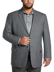 Mens Home - Joseph & Feiss Gold Executive Fit Sport Coat, Charcoal Tic - Men's Wearhouse