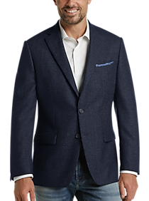 Calvin Klein Navy Check Slim Fit Sport Coat