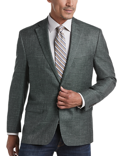 Ralph Lauren Green Tic Classic Fit Sport Coat