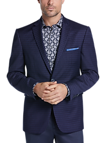 Vince Camuto Navy Check Slim Fit Sport Coat