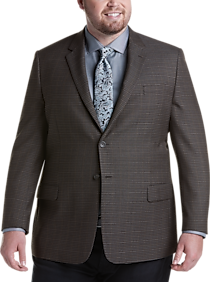 Pronto Uomo Platinum Executive Fit Sport Coat, Olive Check
