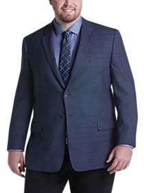 Pronto Uomo Platinum Executive Fit Sport Coat, Blue Plaid