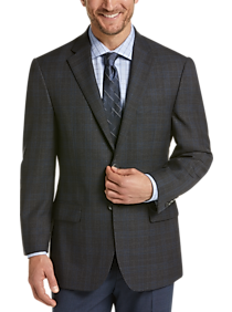 Pronto Uomo Platinum Modern Fit Sport Coat, Charcoal Plaid