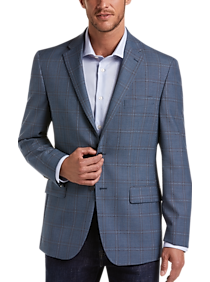 Pronto Uomo Platinum Modern Fit Sport Coat, Blue Plaid