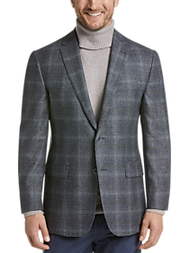 Joseph Abboud Gray Plaid Modern Fit Sport Coat