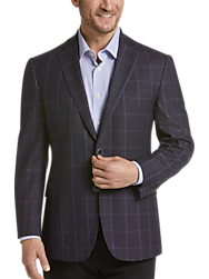Joseph Abboud Limited Edition Wine Windowpane Modern Fit