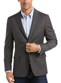 Mens Tommy Hilfiger, Sport Coats - Tommy Hilfiger Brown Plaid Slim Fit Sport Coat - Men's Wearhouse