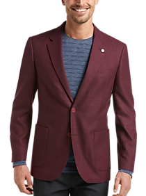 Mens Sport Coats - Nautica Burgundy Modern Fit Sport Coat - Men's Wearhouse