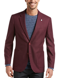 Nautica Burgundy Modern Fit Sport Coat