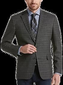 Mens - Awearness Kenneth Cole Black & White Plaid Slim Fit Sport Coat - Men's Wearhouse
