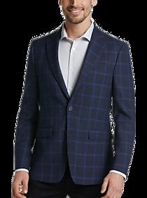 Calvin Klein X-Fit Blue Plaid Slim Fit Sport Coat