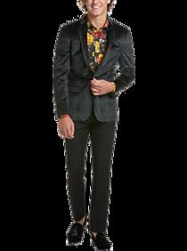 Paisley & Gray Slim Fit Formal Sport Coat, Emerald Plaid