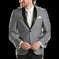 Egara Gray Diamond Check Slim Fit Dinner Jacket