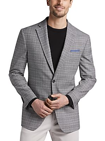 Mens Sport Coats - Awearness Kenneth Cole Gray Plaid Slim Fit Sport Coat - Men's Wearhouse