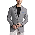 Awearness Kenneth Cole Gray Plaid Slim Fit Sport