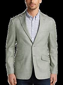 Mens Linen & Summer Clothing, Suits - JOE Joseph Abboud Olive Twill Slim Fit Sport Coat - Men's Wearhouse