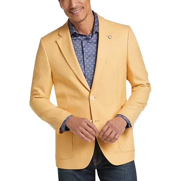 1960s Men's Clothing Nautica Mens Yellow Modern Fit Sport Coat - Size 38 Long $99.99 AT vintagedancer.com