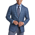 Joseph Abboud Dark Blue Plaid Modern Fit Sport