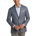 Joseph Abboud Light Gray Plaid Modern Fit Sport